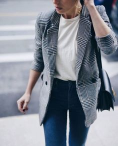 How to Wear: The Check Blazer