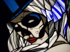 Super sexy -- Stained Glass Sugar Skull Pin up 24x30 by TaduntadahStaindGls
