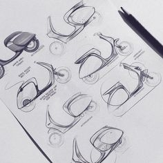 transportation design / sketches / renders / ideation on Behance Scooter Design, Motorbike Design, Bicycle Design, Sketches Arquitectura, Drafting Drawing, Bike Sketch, Logos Retro, Industrial Design Sketch, Car Design Sketch