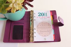 NEW! Personal Size - Day Per Page Dated Calendar Refills - MidYear July 2015-June 2016 - Planner Inserts for Filofax Kikki K - DOTTY Design