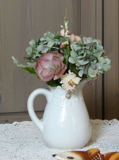 Simply Shabby Chic  Ceramic White Cottage Chic by SNCSquirrelsNest