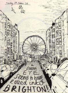 Illustration of Brighton Wheel