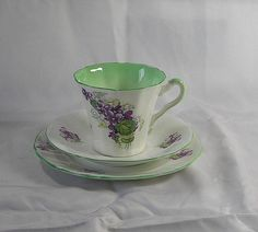 Vintage Art Deco Pastel Green Fine bone china by TheMewsCottage, £16.00