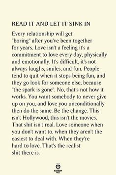 Read It And Let It Sink In Every Relationship Will Get