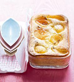 Gâteau aux abricots et au fromage frais