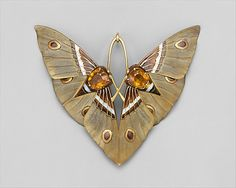 """Moth"" Pendant and Box  Lucien Gaillard  (French, 1861–1933)"