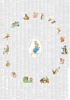 The Complete Peter Rabbit and Friends illustrated childrens poster