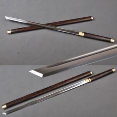 En acier au carbone 1060 japonais fait main épée ninja épée, pratiqueplus lame droite dans de sur Aliexpress.com