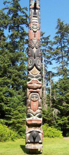 Totem Pole Park in Sitka Alaska. I have posted lots of these totem poles. Native American Totem, Native American History, Native American Indians, Totem Pole Art, Totem Poles, Native Indian, Native Art, Alaska Travel, Alaska Cruise