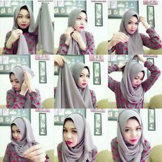 Just 4 u : Classic Everyday Hijab Tutorial For Casual Outfits Muslim Fashion, Modest Fashion, Hijab Fashion, Muslim Hijab, Muslim Dress, Hijabs, Turban, Hijab Simple, Scarf Styles
