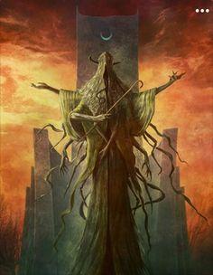 Hastur by Jason Engle Fantasy Kunst, Fantasy Rpg, Dark Fantasy Art, Fantasy Artwork, Dark Art, Gothic Horror, Arte Horror, Horror Art, Monster Concept Art