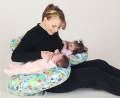 Twin Z Nursing Pillow - 6 Ways To Use - Many Fabric Options! - Trends In Twos