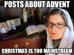 Hipster Catholic with her Personal Altar