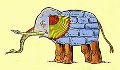 blind men and the elephant...great poem to use when teaching about perception