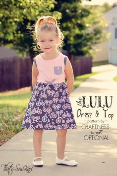 Lulu Dress by Craftiness is not Optional