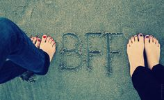 We should do this on cement somtime but write B.F.F.L.A.A.T   then put our feet and hand prints! :) Love ya!