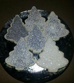 Christmas salt dough glitter trees