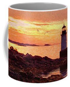 Dawn on Salem Harbor Coffee Mug by Jeff Folger.