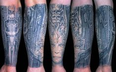 """""""The greatest compliment is when people get tattooed with my work, whether it's done well or not,"""" ... """"To wear something like that your whole life is the largest compliment someone can pay to you as an artist."""" - H.R Giger."""