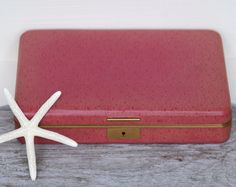 Bright Pink Jewelry Box by Farrington by BeachLaneVintage on Etsy, $14.00