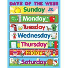Printable Days of Week
