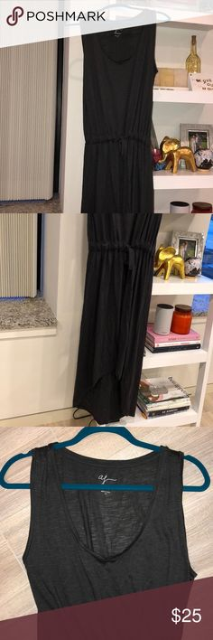 100% cotton high low maxi dress w drawstring waist WORN ONCE: 100% cotton high low maxi dress w drawstring waist, looks great with gladiators and a straw hat for a daytime look or with heeled sandals for a date night look! Andrea Jovine Dresses Maxi