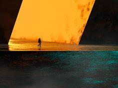 Cyberpunk, Fields, Concept Art, Illustration Art, Waves, Photoshop, City, Gallery, Behance