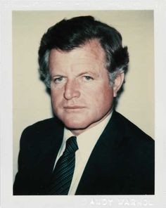 Original Andy Warhol Polaroid of U.S. Senator Ted Kennedy to Be Sold at Auction to advance cancer research. This is the photo used by Warhol to create his iconic silkscreen portrait series supporting Kennedy's 1980 Presidential  campaign. via heraldonline.com