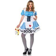 Alice in Wonderland Sexy Women's Miss Alice Plus Costume