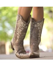 These ones may be the ones... BROWN CRATER BONE EMBROIDERY BOOT - A1094