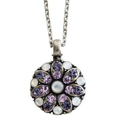 "Mariana Guardian Angel Swarovski Crystal Pendant Necklace, 19"" Purple Rain. Available at www.regencies.com"