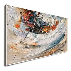 Amazon.com: Horizontal Wall Art Living Room Wall Art Music Canvas Art Gray Artwork Oil Painting Canvas Abstract Expressionist Artists Modern Abstract Art: Handmade