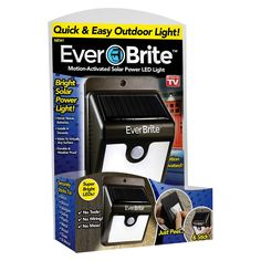 As Seen On TV Ever Brite Outdoor Solar Light - Black