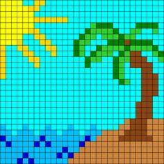 Beach Perler Bead Pattern