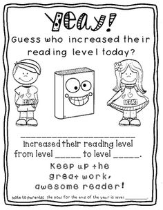 Free:) It's time to re-assess reading levels in my classroom, and I'm SO proud of my kids when they increase their reading levels. I HAD to make them an award. There are two versions - one with a spot where you can jot down the end of year reading leve Guided Reading Groups, Reading Centers, Reading Lessons, Reading Levels, Reading Strategies, Reading Comprehension, Kindergarten Reading, Teaching Reading, Reading Activities