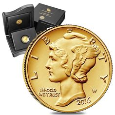 2016 1/10 oz Mercury Dime Centennial Gold Coin 1916-2016 100th Anniversary (W/Bo