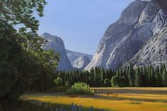 "Yosemite Valley - 24"" x 36″ oil painting by Nick Savides"