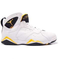 Air Jordan Retro 7 Womens White Maize Yellow 313358-172