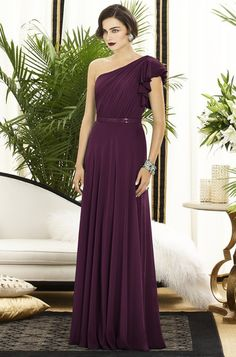 Eggplant Bridesmaid Dress / Fall I don't like the dress but I love the color