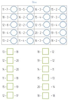 BLOG EDUKACYJNY DLA DZIECI: LICZBY DRUGIEJ DZIESIĄTKI - PRZYKŁADOWE ZADANIA DO 20 2nd Grade Math Worksheets, Phonics Worksheets, 1st Grade Math, Behavior Chart Toddler, English Worksheets For Kids, Numbers Kindergarten, Math School, Baby Education, Math For Kids