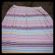 Loft skirt Multi colored medium skirt. Falls right at my ankle. LOFT Skirts