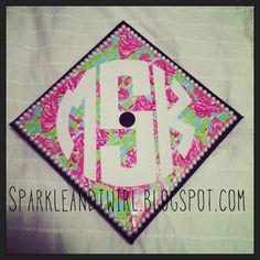 Lilly Pulitzer Graduation Cap!  sparkleandtwirl.blogspot.com