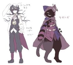 Alice mare character design White Rabbit and Cheshire Cat