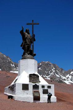 Los Andes, Chile, Ciudad con historia, naturaleza y Minería...  Monumento Cristo Redentor