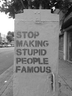 On stupid celebrities