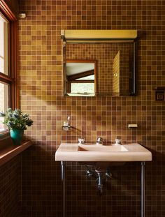 Sarah Anderson, Frank Lloyd Wright, American Standard Sinks, Dal Tile, Usonian House, Craftsman Interior, Affordable Housing, Prefab Homes, Mid Century House