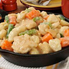 Chicken And Dumplings Casserole.