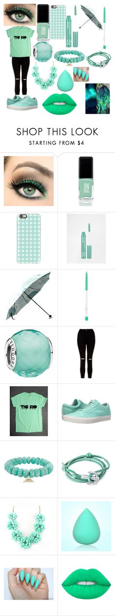 """Pastel"" by motionlessandkuza ❤ liked on Polyvore featuring JINsoon, Casetify, NYX, Pandora, New Look, Vans, Sydney Evan, Anchor & Crew and Lime Crime"