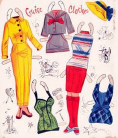 Cruise clothes, Paper Dolls - Around the World with Jean and Friend
