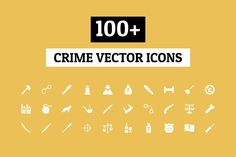 100+ Crime Vector Icons by Creative Stall on @creativemarket